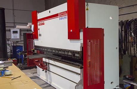 A picture of the press brake used to form metal